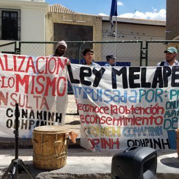 Ofraneh y Copinh: Rechazo al anteproyecto de Ley de Consulta a los pueblos