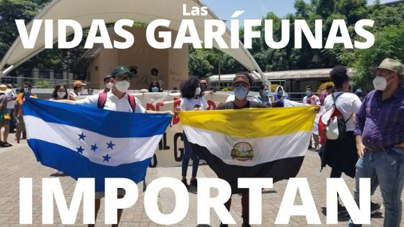 Protesta garífuna en Tegucigalpa | 31 de julio de 2020