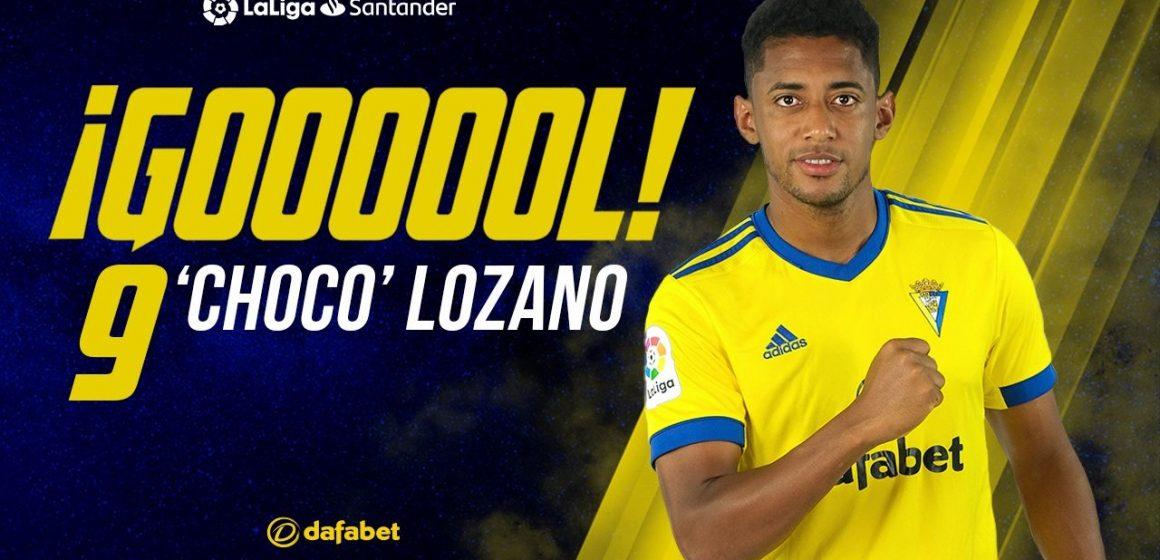 Choco Lozano la rompe en Cádiz y lo nombran MVP del partido contra el Alavés