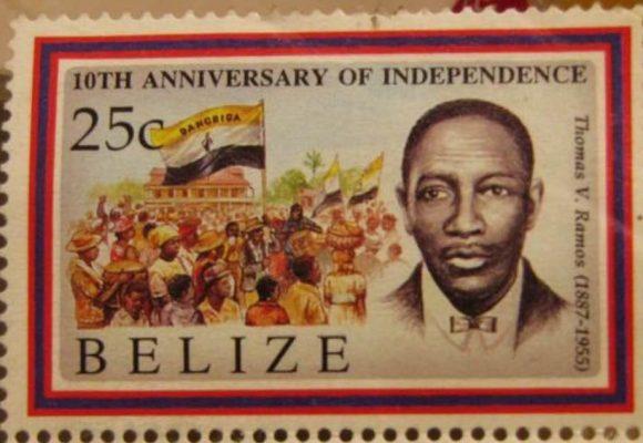 Belice: La histórica estampilla con Thomas V. Ramos y la bandera garífuna