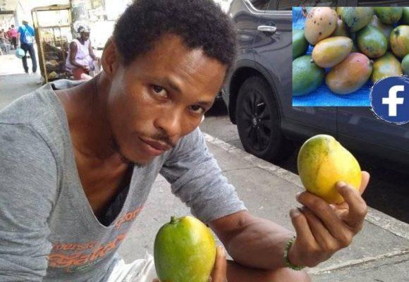 Rosel Leiva, vendedor orgulloso que publicita sus mangos ¡en Facebook!