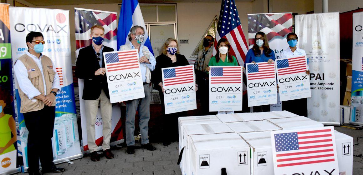 Estados Unidos de América realiza nueva Donación a Honduras de 81,900 de dosis de vacunas Pfizer