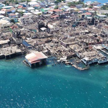Guanaja ya respira y Honduras se moviliza en ayudar para que renazca de sus ruinas